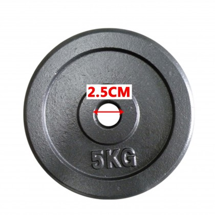10kg Iron Cast Weight Plate Dumbbell Barbell For 2.5cm Hole