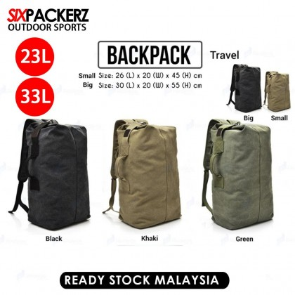 23L-33L Men Travel Outdoor Sports Canvas Large Capacity Backpack R688